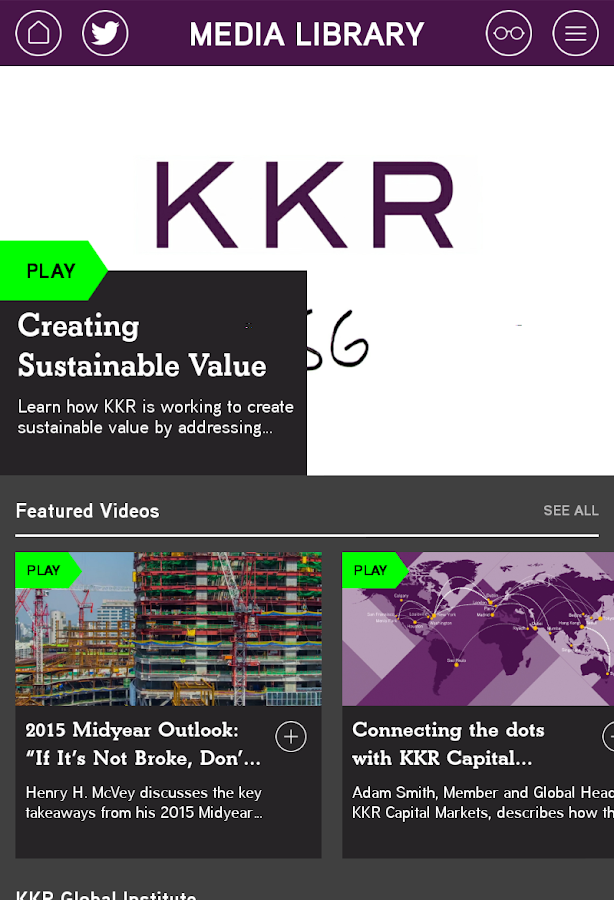 KKR Insights- screenshot