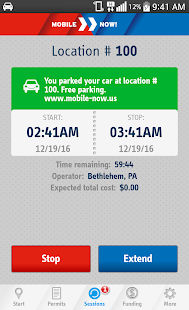 MobileNOW! Parking App for US- screenshot thumbnail