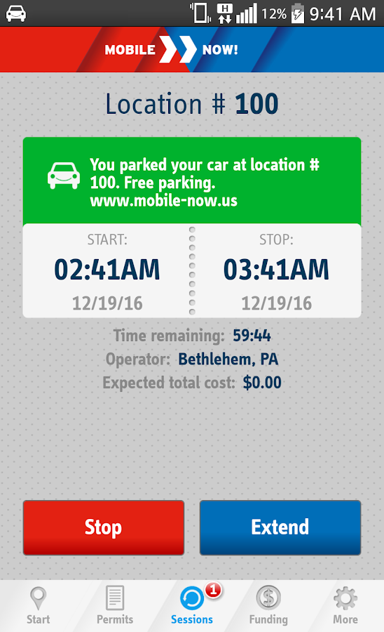 MobileNOW! Parking App for US- screenshot