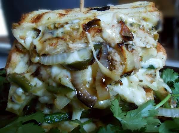 Chicken Fajita Grilled Cheese Sandwich Recipe