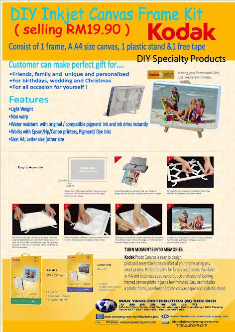 DIY Inkjet Canvas Frame Kit