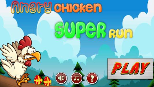 Angry chicken-Super run screenshot 0
