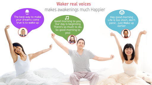 Waker: Real Voice Alarm Clock