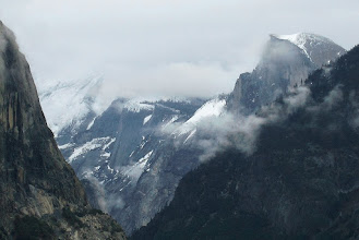 Photo: Half Dome from Tunnel View, Day 2, S95. #3579     That's Cloud's Rest to the right of Half Dome (or to the left from our view).