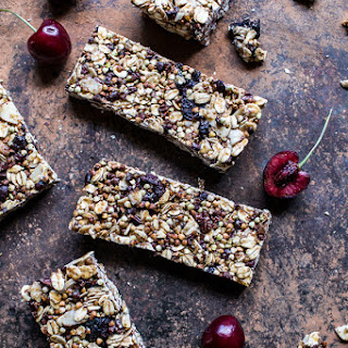 Chewy Cherry, Almond and Cacao Nib Granola Bars.