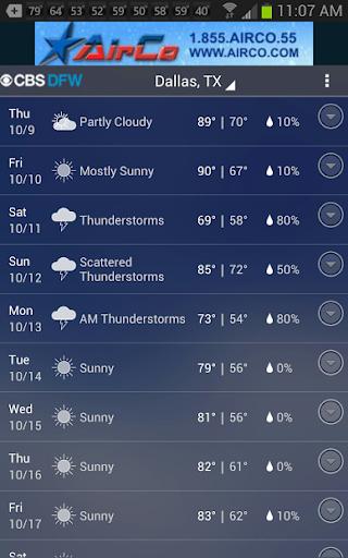 CBS DFW Weather 5.0.500 screenshots 3