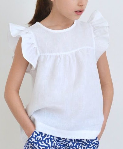 looks vacances chic blouse fille little cigogne