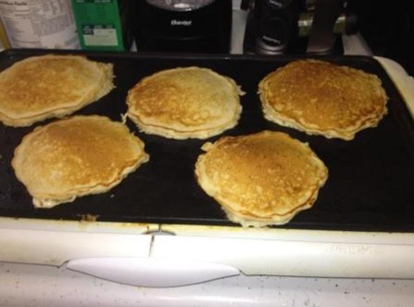 Bake 'em up like regular pancakes - lightly browned on each side!