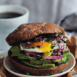 Super Healthy Breakfast Sandwich.