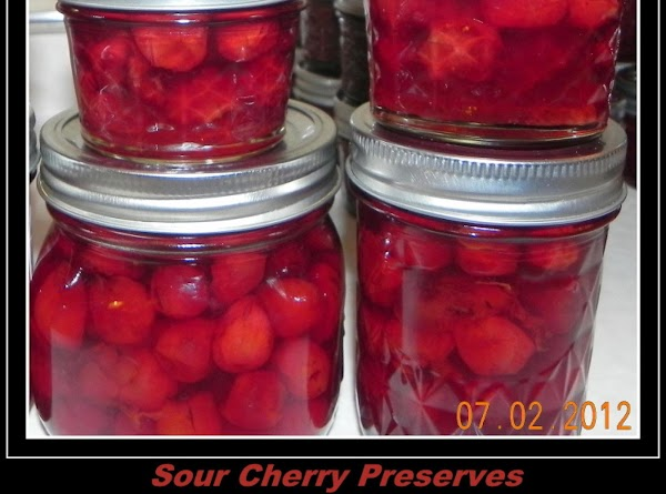 Preserve:Fruit is preserved with sugar so it retains its shape, is transparent, shiny, tender...