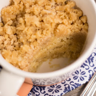 4 Minute Coffee Cake Mug Cake.