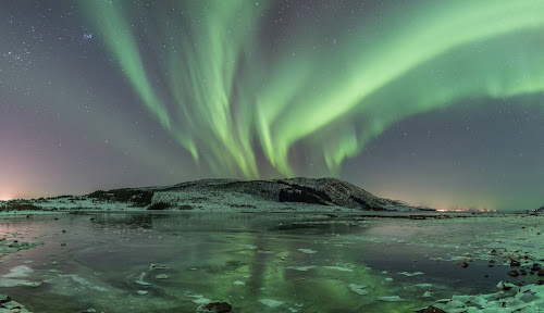 Green beauty aurora by Benny Høynes - Abstract Light Painting ( sky, ice, green, northern lights, aurora borealis, lightpainting, canon eos, norway )