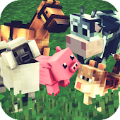 Animals Craft 🐷🐔🐑🐮 - Block World Exploration