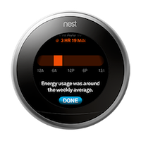 nest thermostat energy usage history