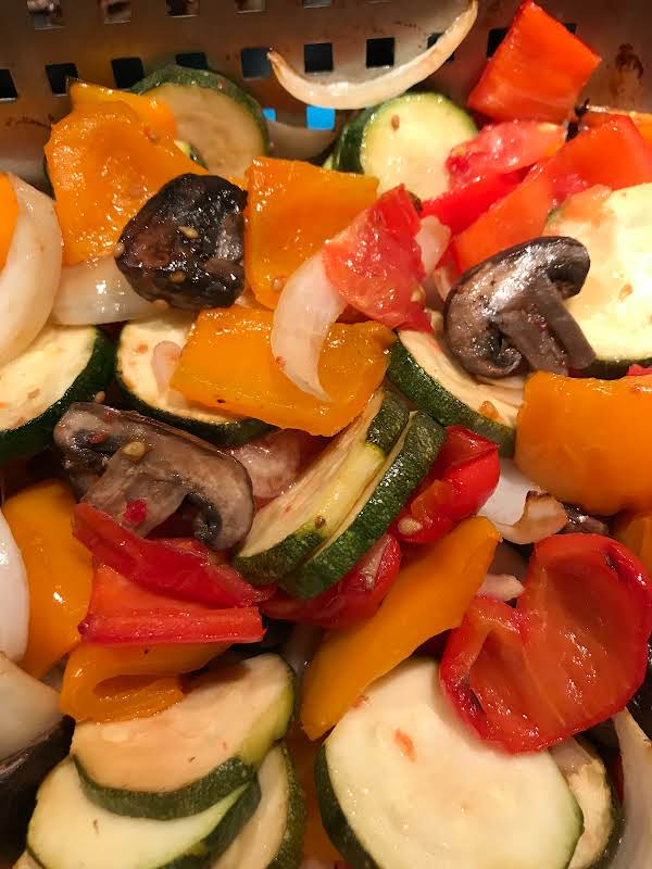 Grilled Vegetable Mixture For Bbq