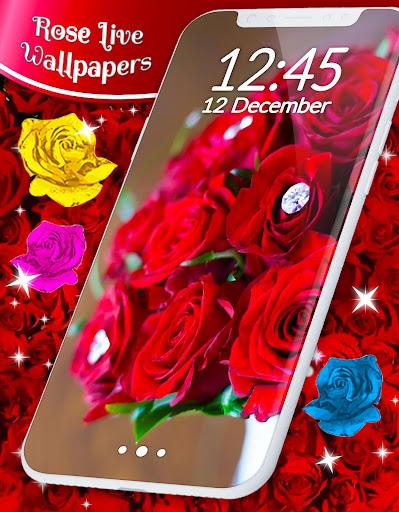 Red Rose ud83cudf39 Diamond Shine Live Wallpaper screenshots 6