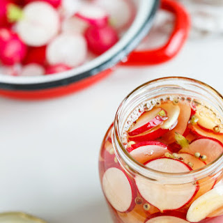 Sweet & Sour Pickled Radishes.
