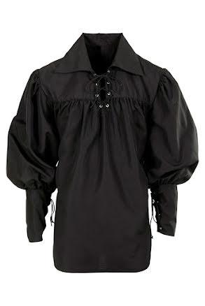 Musketörskjorta, svart