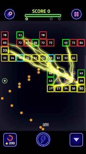 Brick Breaker Glow modavailable screenshots 2
