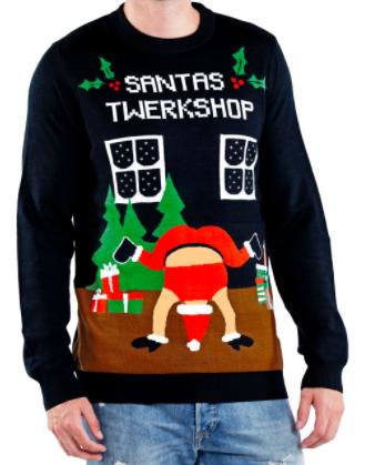 Tipsy Elves Twerking Santa Sweater