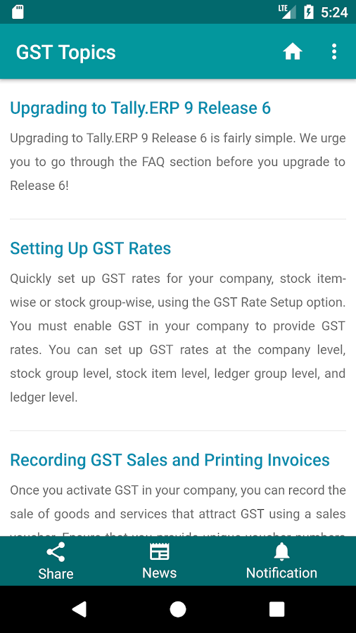Tally for GST- screenshot