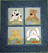 Photo: Our first pattern - HBH101 -  Furever Friends.   A lovely little quilt for any  child