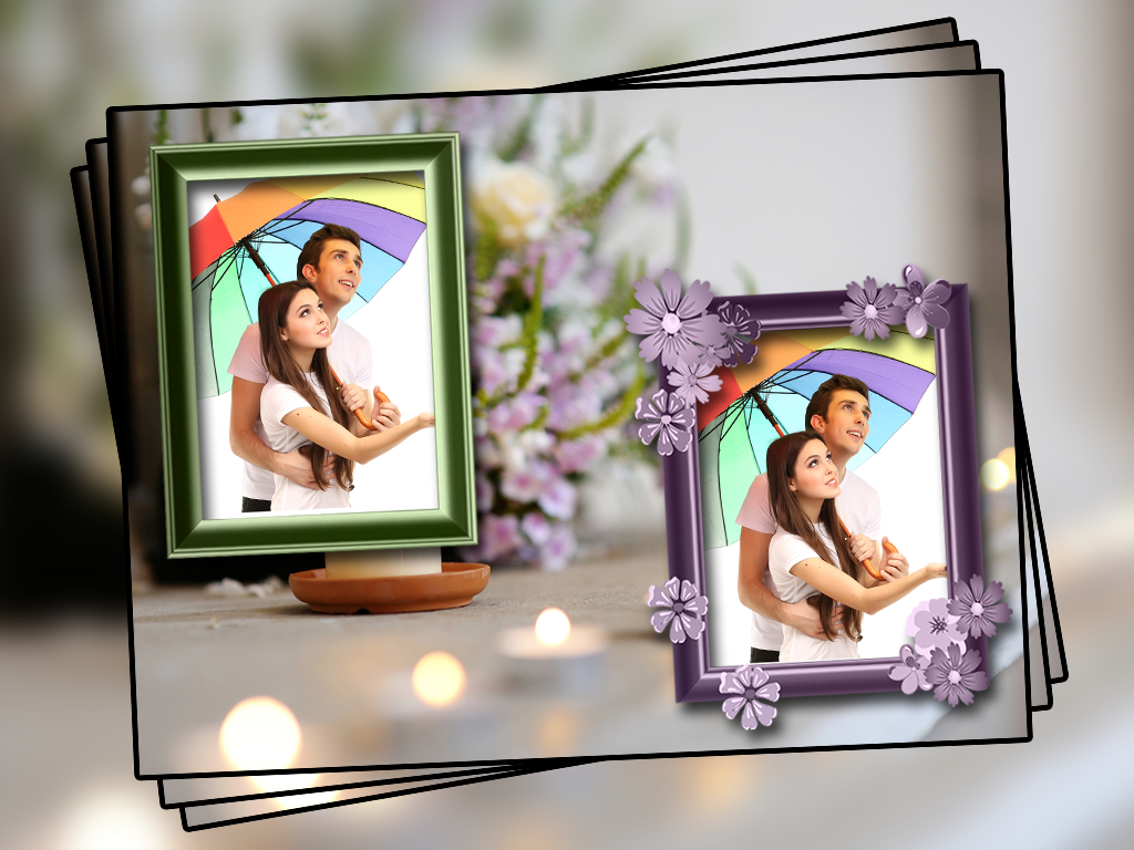 lover heart photo frame dual screenshot - Dual Picture Frame