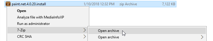 Open archive