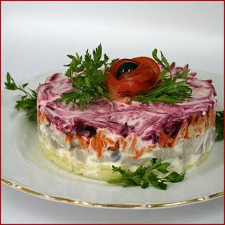 """Salad """"Herring under Fur Coat""""."""