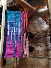 Photo: three color clasped weft