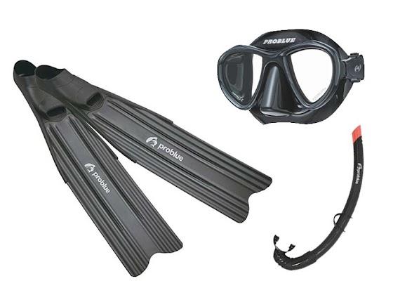 〖優惠一:加購$3000〗Problue 低容積面鏡、Problue 自潛用呼吸管(黑色)、Problue 自潛塑膠長蛙