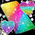 Multi color glitter live wallpaper icon