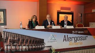 Carmen moya,  Pedro García y Juan José Zapata, en el congreso de Alergosur en Almería