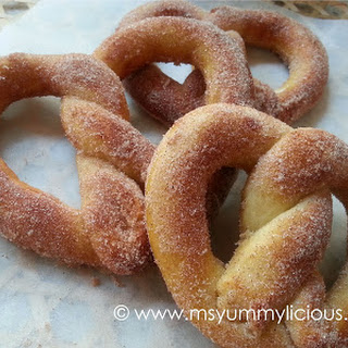 Soft Cinnamon Sugar Pretzels.