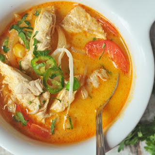 Slow Cooker Thai Curry Soup.