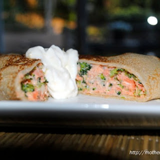 Fancy Shmancy Salmon and Broccoli Crepes