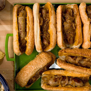 Beer-Braised Bratwursts with Onion