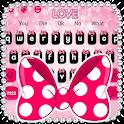 Cute Pink Bowknot Keyboard Theme icon