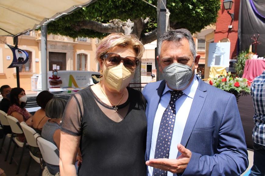 La magistrada Lourdes Molina y el diputado nacional Indalecio Gutiérrez.