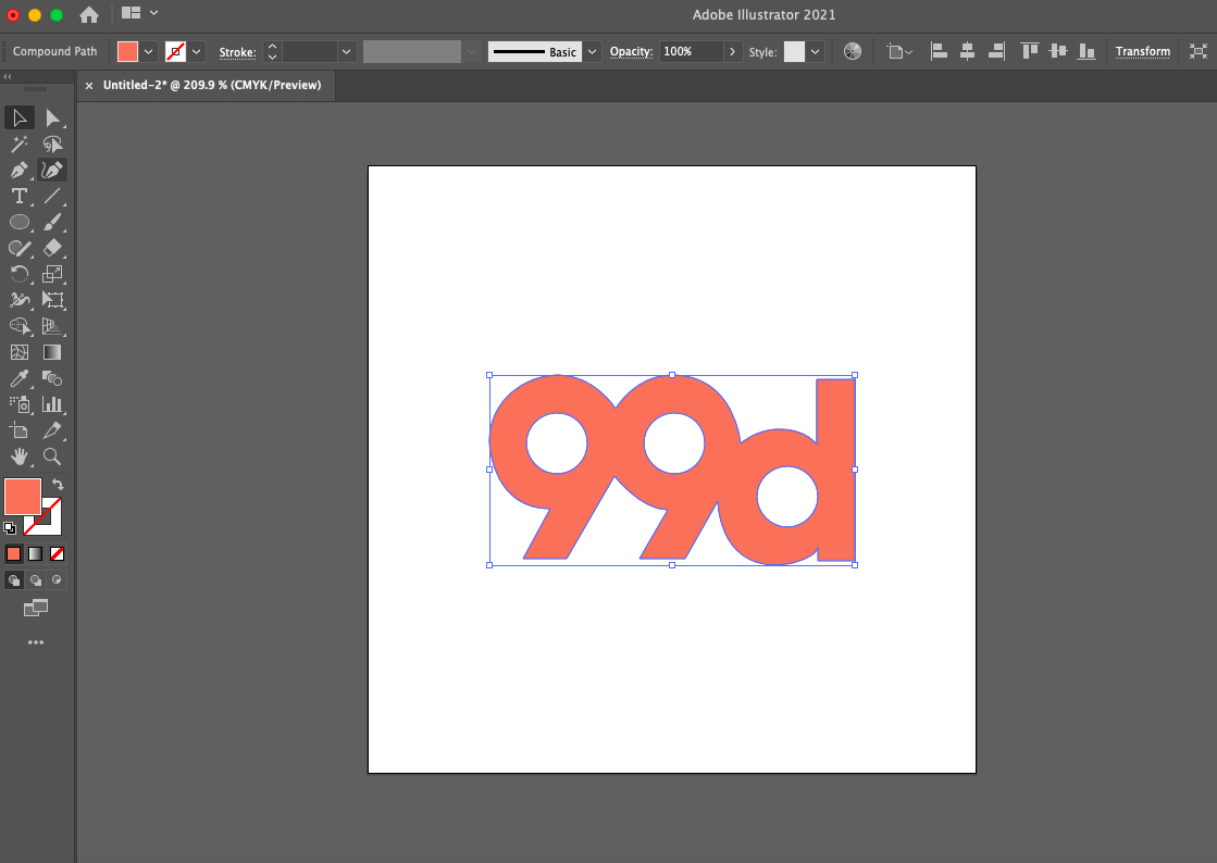 Screenshot of Adobe Illustrator interface showing how to scale a logo