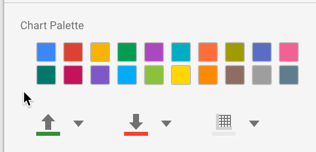 The chart color palette