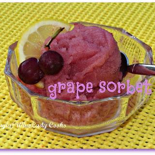 Fresh Grape Sorbet.