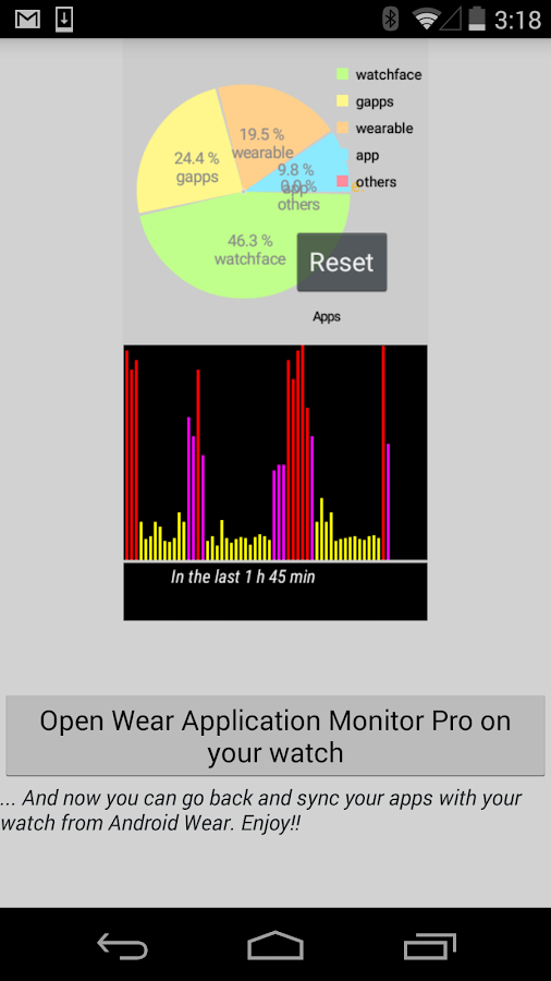 Wear Application Monitor Pro- screenshot