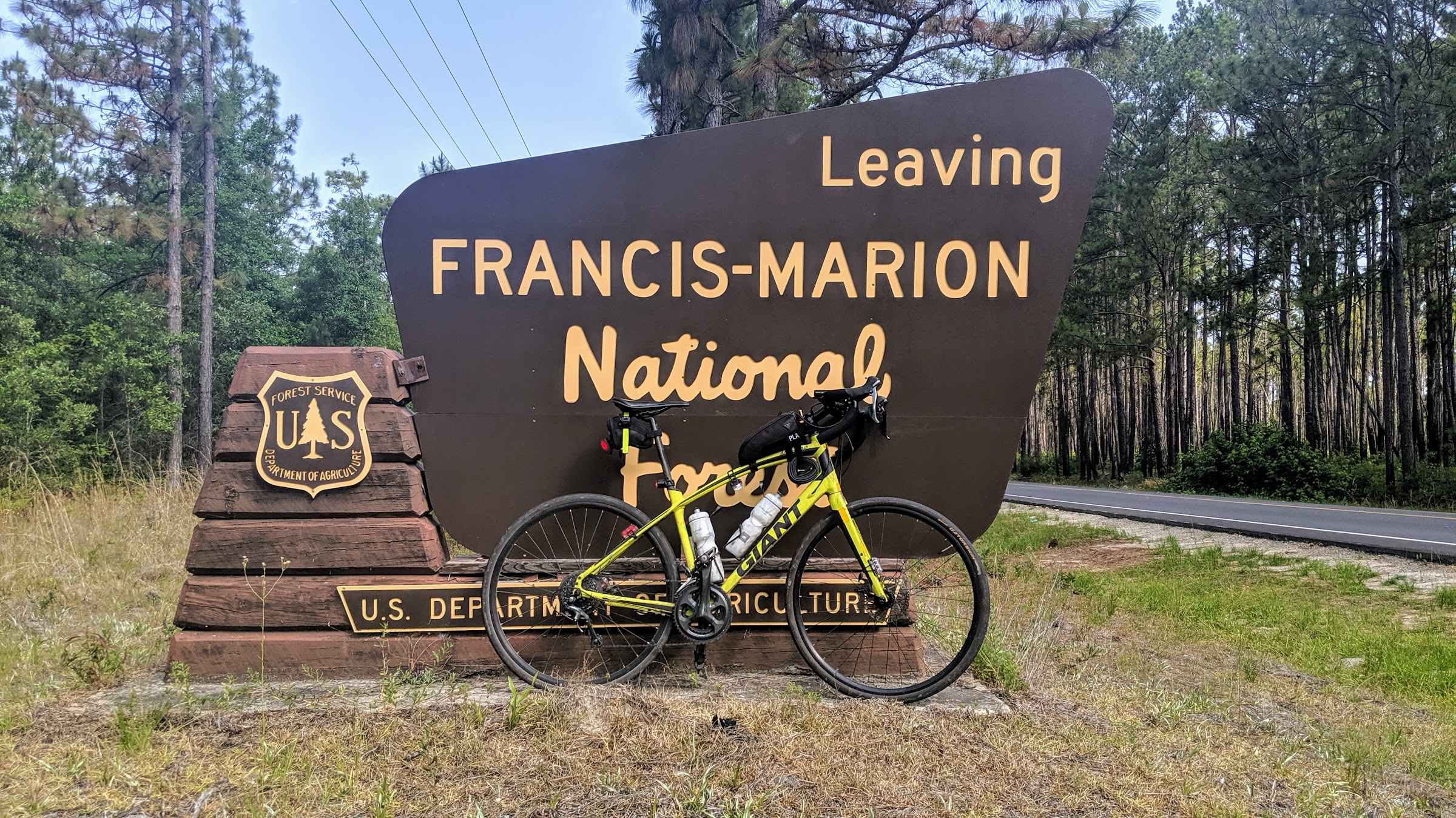 Francis Marion National Forest Sign Hwy 402