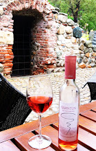 Photo: Today, enjoying a glass of Bulgarian rosé in front of the archeological site.  Sofia.