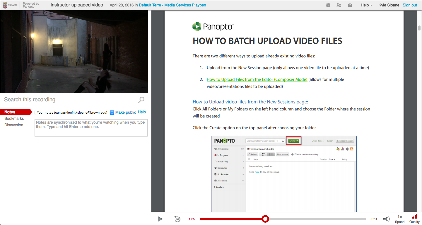 Attaching PDFs to videos in Panopto - Knowledgebase