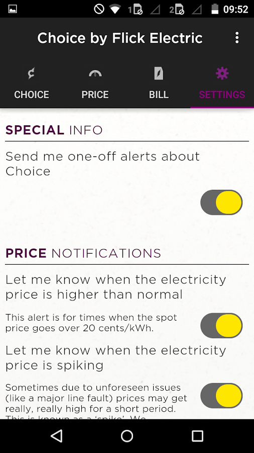 Choice by Flick Electric Co.- screenshot
