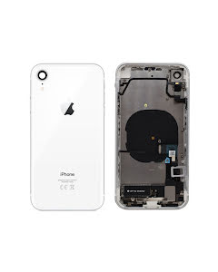 iPhone XR Housing with small parts Original Pulled White