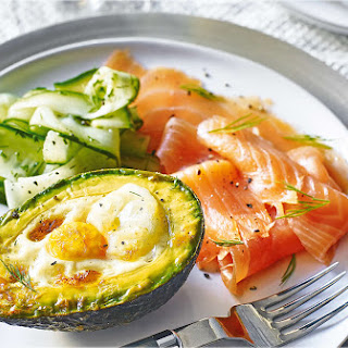 Eggs Baked in Avocado with Smoked Salmon Recipe