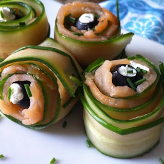Smokey Salmon and Veggie Pinwheels Recipe